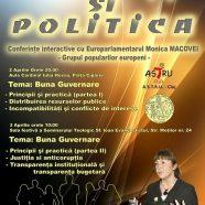 Conferinţe interactive cu europarlamentarul Monica Macovei, la iniţiativa reprezentanţilor Bisericii Greco-Catolice