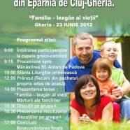 Anunţ: Sărbătoarea Familiilor din Eparhia de Cluj-Gherla