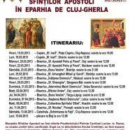 Pelerinajul moaştelor Sfinţilor Apostoli în Eparhia de Cluj-Gherla