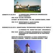 Anunţ: Celebrări cu ocazia Zilei Vieţii Consacrate la Cluj-Napoca