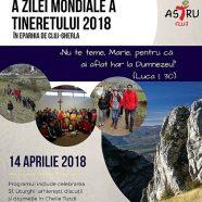 Anunț: Celebrarea locală a celei de-a XXXIII-a ediții a Zilei Mondiale a Tineretului