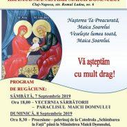 Anunț: hramul Mănăstirii Congregaţiei Surorilor Maicii Domnului din Cluj-Napoca