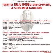 """Anunț: Programul omagial """"Fericitul Iuliu Hossu, Episcop martir, la 135 de ani de la naștere"""""""