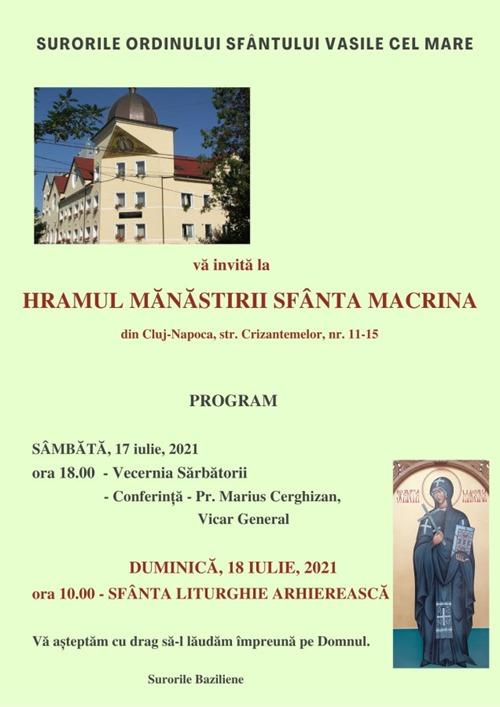 Afis - Hram sf. Macrina, 2021